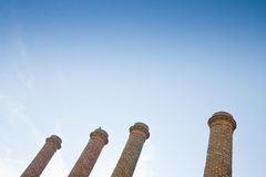 Four old brick chimney Royalty Free Stock Image