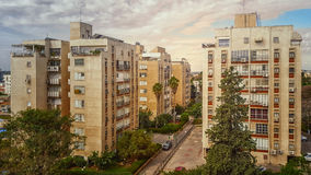 Four old condominiums in Nes Ziona Royalty Free Stock Image