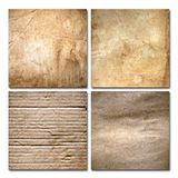 Four Old grunge paper isolate Royalty Free Stock Photos