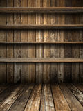 Four Old Grunge Wood Shelf Stock Images