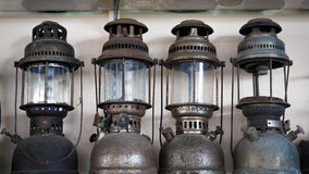 Four old lamp Stock Photography