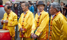 Four old men Stock Image