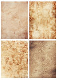 Four old paper sheets royalty free stock photos