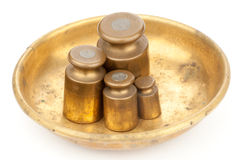 Four old styled weights Royalty Free Stock Photo
