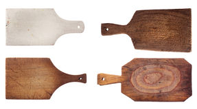 Four Old Used Chopping Kitchen Boards Royalty Free Stock Images