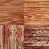 Four Old Wood Texture for Background Royalty Free Stock Photos