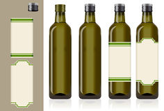 Four olive oil bottles Stock Images