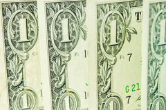 Four one dollar banknotes Royalty Free Stock Image