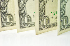 Four one dollar banknotes Royalty Free Stock Photography