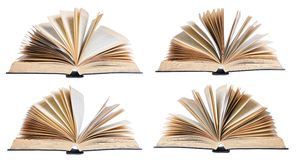 Four open books Royalty Free Stock Image
