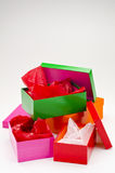 Four open gift boxes. Stock Images