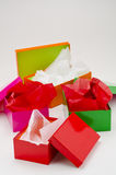 Four open gift boxes. Stock Photography