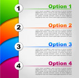 Four options background Stock Images