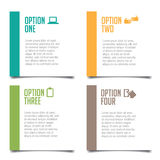 Four options infographic design Stock Photos