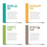 Four options infographic design Stock Photos