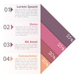 Four Options Infographics. Deign template Royalty Free Stock Image