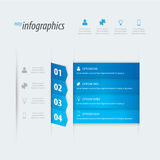 Four options infographics vector. Place your own text on blue banners Stock Photography