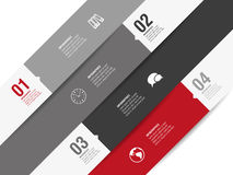 Four options of modern design. Modern business background for your design Royalty Free Stock Images