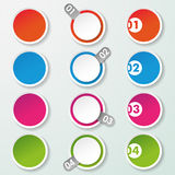 Four Options Paper Circles Royalty Free Stock Photo