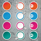 Four Options Paper Circles Concrete Royalty Free Stock Image