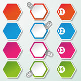 Four Options Paper Hexagons Royalty Free Stock Photography