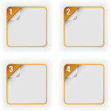 Four Options Template With 3D Page Curl Stock Photo