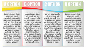 Four Options Horizontal Template Royalty Free Stock Images