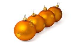 Free Four Orange Ornaments Stock Photo - 2990960