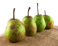 Four organic pears Stock Image