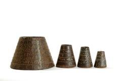 Four oriental bowls Stock Image