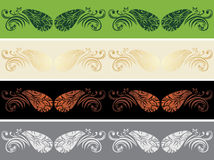 Four ornamental borders. Vintage design Stock Image