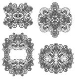 Four ornamental floral adornment Stock Images