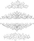 Four ornaments. Four different types of ornament, black and white, also corel draw an ail version Stock Image