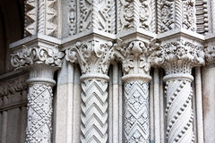 Four Ornate Columns Stock Images