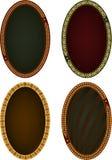 Four oval frames Stock Photos