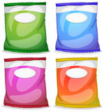 Four packs with empty labels Stock Images