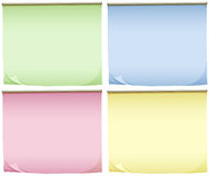 Four pads of colourful papers Royalty Free Stock Photos