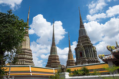 Four pagoda wat pho Royalty Free Stock Image
