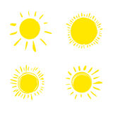 Four painted sun. Stock Photo