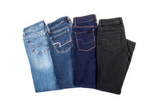 Four Pair of Jeans Royalty Free Stock Image