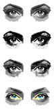 Four pairs of eyes Stock Images