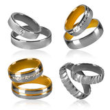 Four pairs of rings Stock Photo
