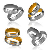 Four pairs of rings Royalty Free Stock Photo