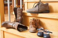 Four pairs of shoes Stock Photography