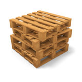 Four pallets stack Stock Images