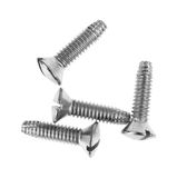 Four pan head thread cutting screws Royalty Free Stock Photos