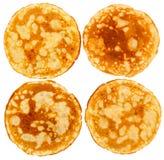 Four pancakes Stock Photos