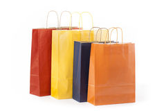 Four Paper Bags Stock Photography