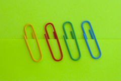 Four paper clips. Stock Photos