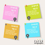 Four Paper Flow Chart info graphic elements Stock Photography